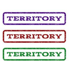 Territory watermark stamp vector