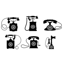 Vintage Telephone Set vector image