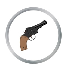 Revolver icon cartoon singe western icon from the vector