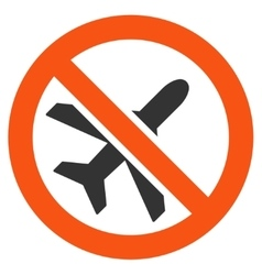 Forbidden ariplanes flat icon vector