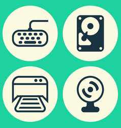 computer icons set collection of printed document vector image