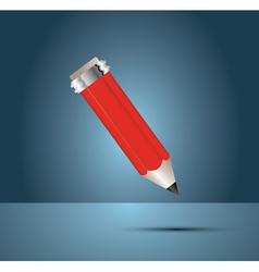 Red one pencil vector