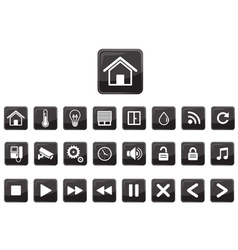Home automation  smart home icon set vector