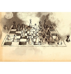 The worlds great chess games byrne - fischer vector