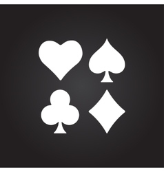 Game cards icon epsflat white0 vector