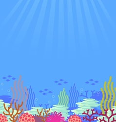 Cartoon undersea vector