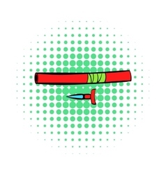 Ninja weapon icon comics style vector