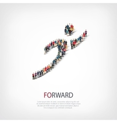 Forward people crowd vector