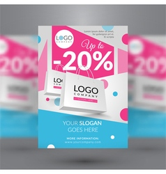 Corporate flyer with paper bags vector