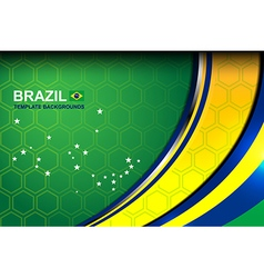 Brazil wave template backgrounds vector