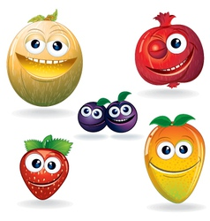 Fruit cartoons vector