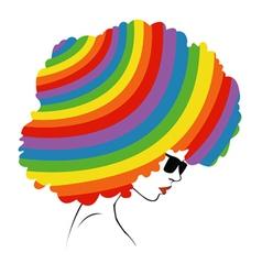 abstract rainbow hair - vector image vector image