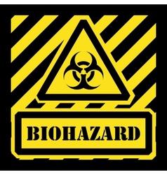 Biohazard sign yellow and black vector