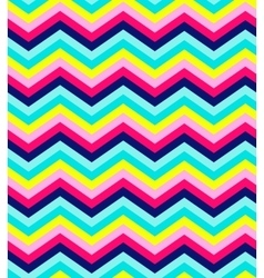Blue pink red and turquoise chevron seamless vector image vector image