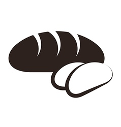 Bread and sliced bread vector image vector image