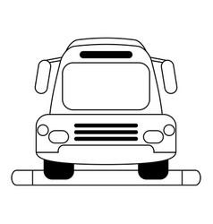 Bus silhouette vector