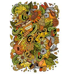 cartoon cute doodles honey vector image vector image