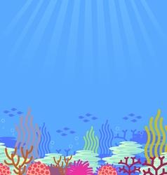 Cartoon undersea vector