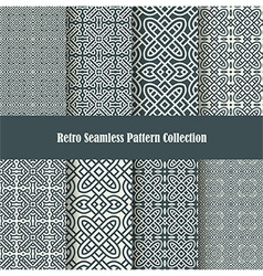 celtic knot ornament seamless patterns vector image vector image