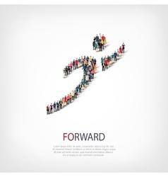 Forward people crowd vector