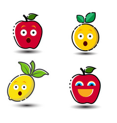 funny fruit symbol vector image