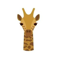 Giraffe animal cartoon vector