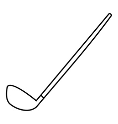 Golf clubs icon outline style vector image