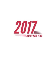Happy new year 2017 theme vector