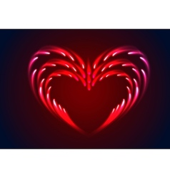 heart with glow effect vector image