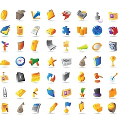 Icons for business finance and office vector image vector image