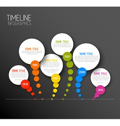 Infographic horizontal dark timeline report vector