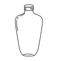Line long mason jar preserve style vector