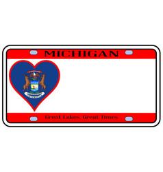 Michigan license plate vector