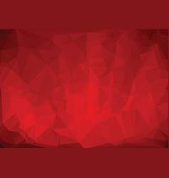polygonal red background vector image vector image