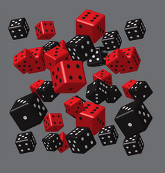 Red black dice pattern vector