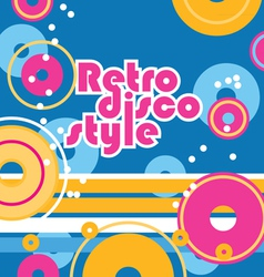 retro style background vector image