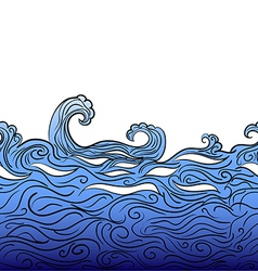 Seamless water border vector image