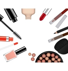 set of female cosmetics vector image