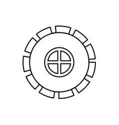 Sketch silhouette gear wheel pinion icon vector