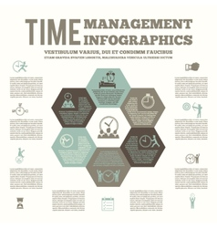 Time management infografic poster vector image