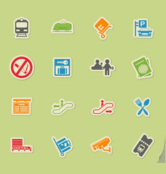 Train station symbols vector
