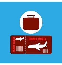Travel concept airline ticket vector
