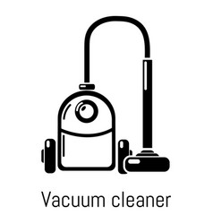 Vacuum cleaner icon simple black style vector