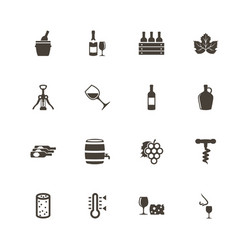 wine - flat icons vector image vector image