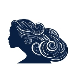 Woman Hair style silhouette vector image vector image