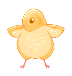 yellow cute cheeper raised wings vector image vector image