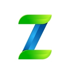 Z letter leaves eco logo volume icon vector image vector image