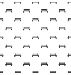 Wooden bench pattern simple style vector
