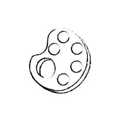 Paint palette symbol vector