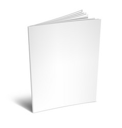 empty white book or magazine vector image
